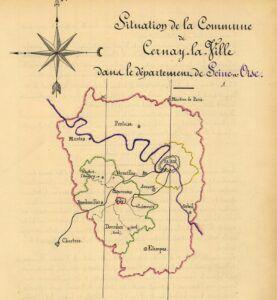 plan de Cernay-la-Ville 1899