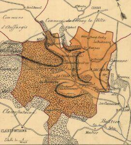 plan de La-Celle-les-Bordes 1899