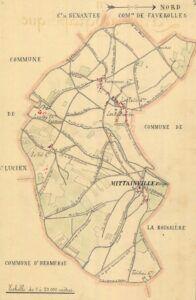 plan de Mittainville 1899