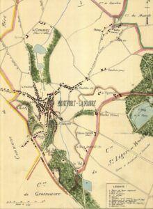 plan de Montfort-l'Amaury 1899
