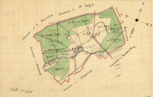 plan de Poigny-la-Forêt 1899