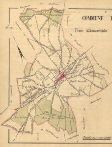 plan de Saint-Arnoult-en-Yyvelines 1899