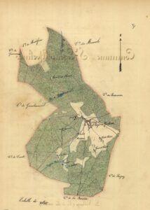 plan de Saint-Leger-en-Yvelines 1899