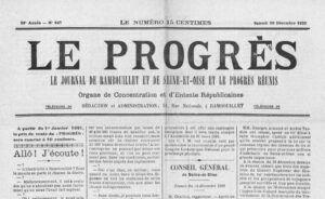 «Le Progrès» , 2020 vs 1920