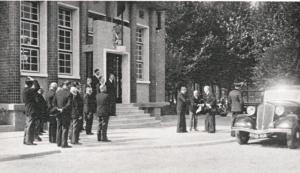 inauguration de la Poste de Rambouillet par le Président Lebrun