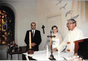 Chapelle Saint-Hubert 1987—le père Gamet marie Christian et Mireille Painvin