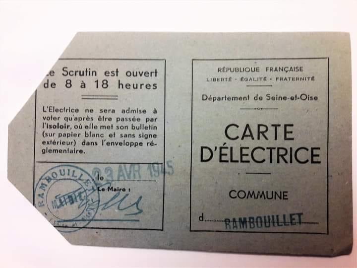 la carte d'électrice (1945) de mon arrière grand-mère - Fabrice Spaëth
